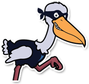 Antagonist Pelican holding the behind the scene notice